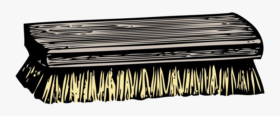 Monochrome And White - Scrub Brush Clip Art, Transparent Clipart