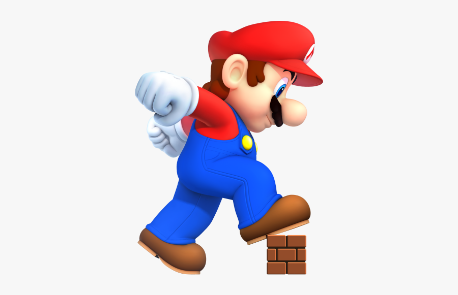 Mario Png - New Super Mario Bros Mega Mario, Transparent Clipart