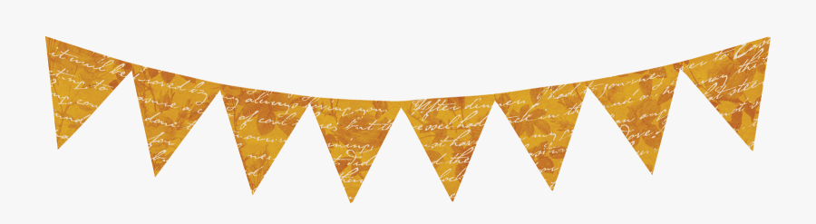 Transparent Triangle Flag Banner Png - Gold Birthday Banner Png, Transparent Clipart