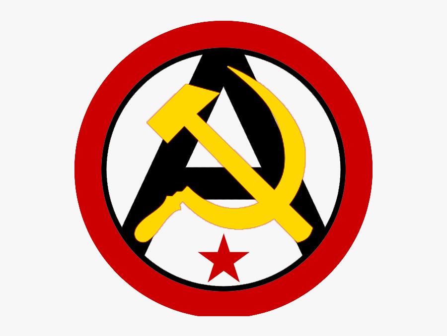 Transparent Communism Png - Anarcho Communism Symbol Png, Transparent Clipart