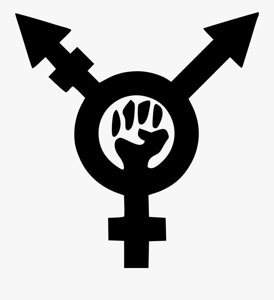Fist Clipart Feminist - Transfeminism Symbol, Transparent Clipart