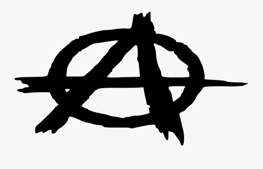 Transparent Anarchist Symbol Png - Anarchy Symbol, Transparent Clipart