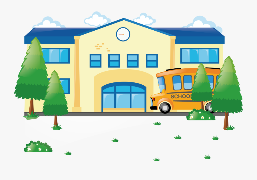 Students Cleaning School Clipart, Transparent Clipart