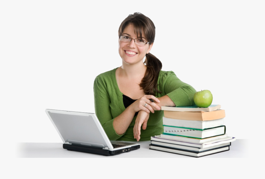 Young Teacher Png - College Student Study Png, Transparent Clipart