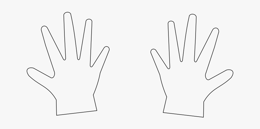 "Free Clip Art ""hands / Mains - Safety Glove, Transparent Clipart"