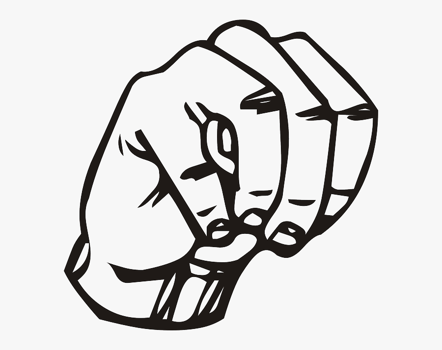 Transparent Languages Clipart - M In Sign Language, Transparent Clipart