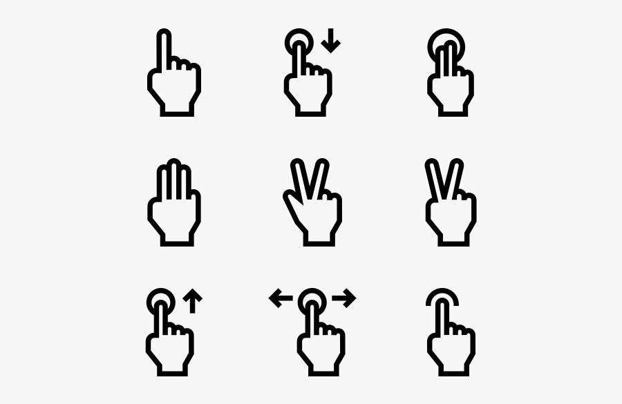 Hand Gestures - Hand Symbol, Transparent Clipart