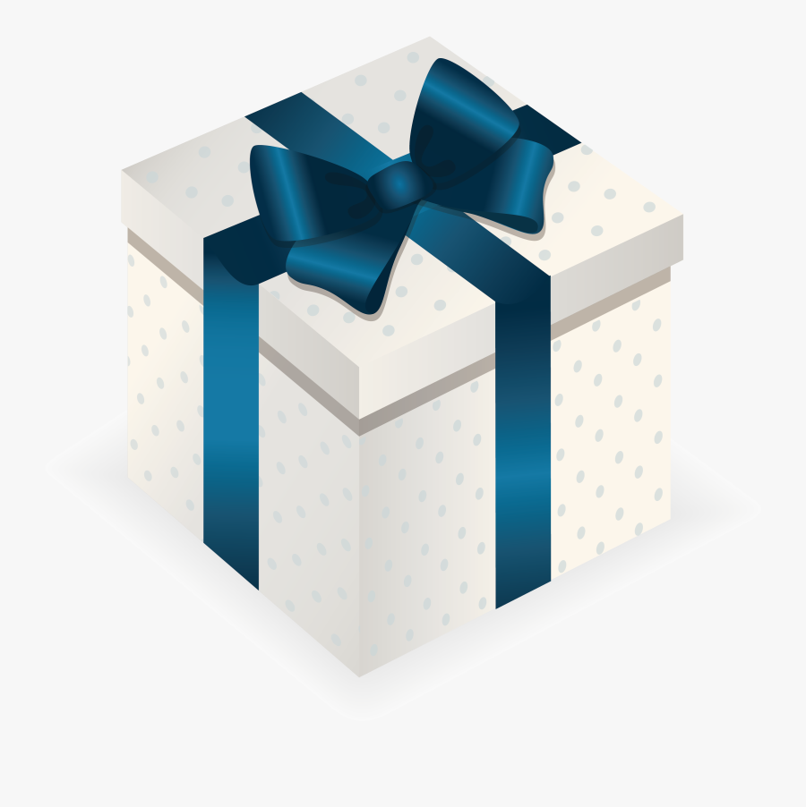 Gift Box Christmas - Blue Gift Box Png, Transparent Clipart