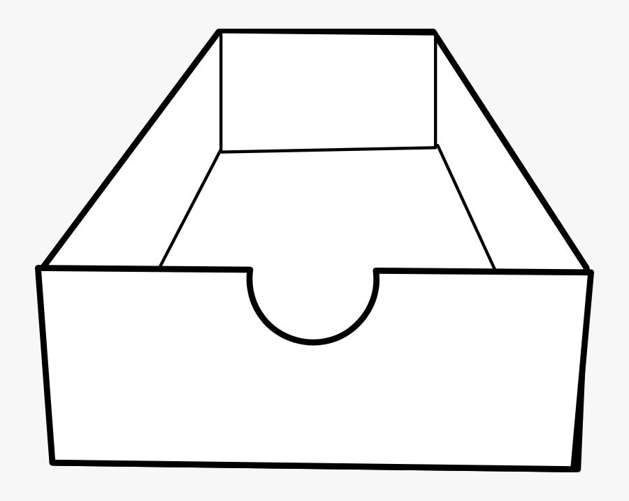 Inbox / Boite D& - Open Shoe Box Drawing, Transparent Clipart