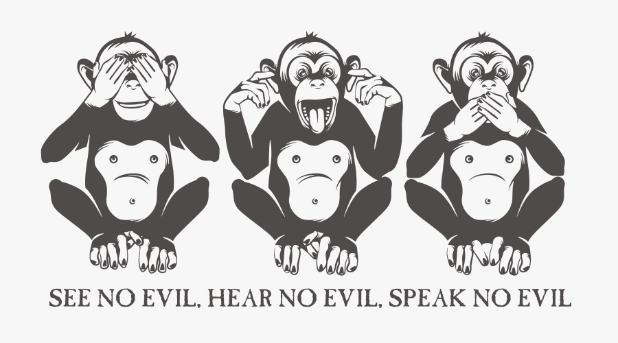 Three Wise Monkeys Royalty-free - Monkey Close Eyes Ears Mouth, Transparent Clipart