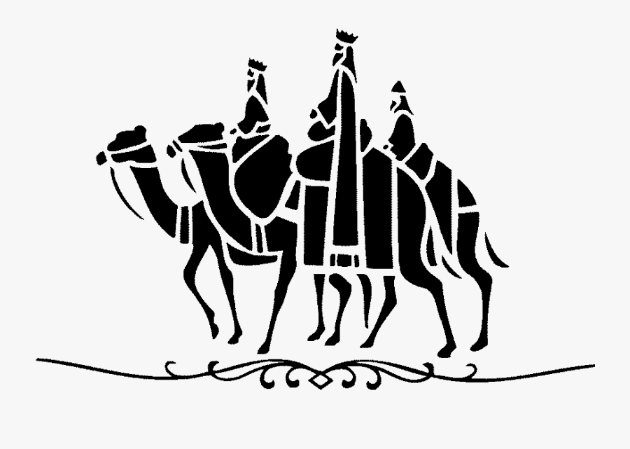 Biblical Magi Shrine Of The Three Kings Clip Art - Siluetas De Los Reyes Magos, Transparent Clipart