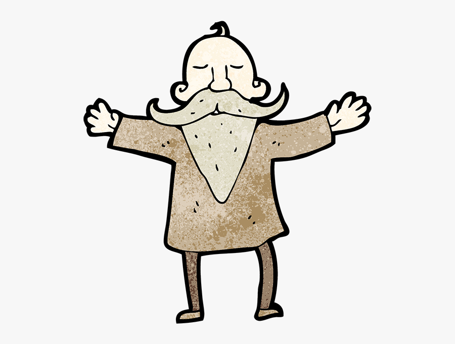 Drawing Wise Old Man Stock Photography - Old Man With Beard, Transparent Clipart