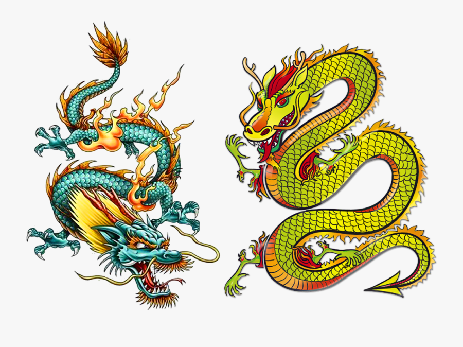 Chinese Japanese Dragon Legendary Drawing Creature - Chinese Dragon Tattoo, Transparent Clipart