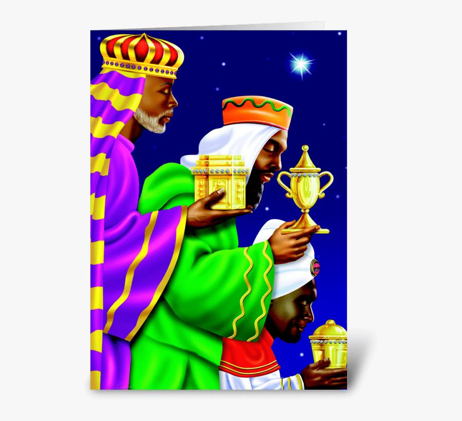 Three Kings Greeting Card - Cartoon, Transparent Clipart