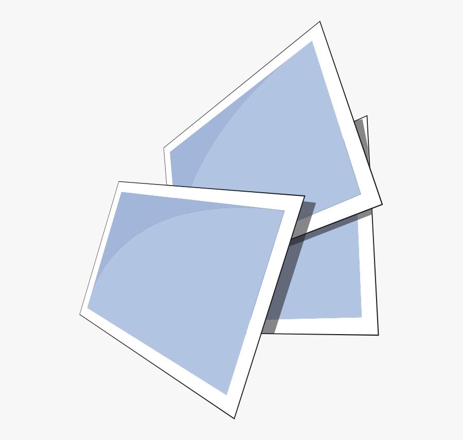 Blue,square,angle - Clipart Photo Album Transparent, Transparent Clipart