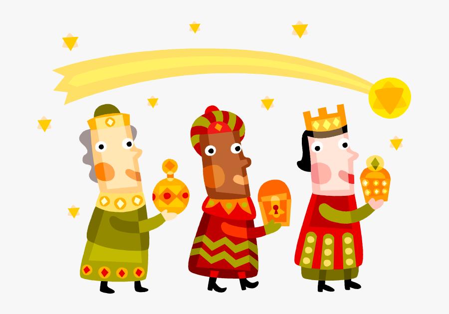 Tres Reyes Magos, Three Wisemen, - Three Kings Day, Transparent Clipart