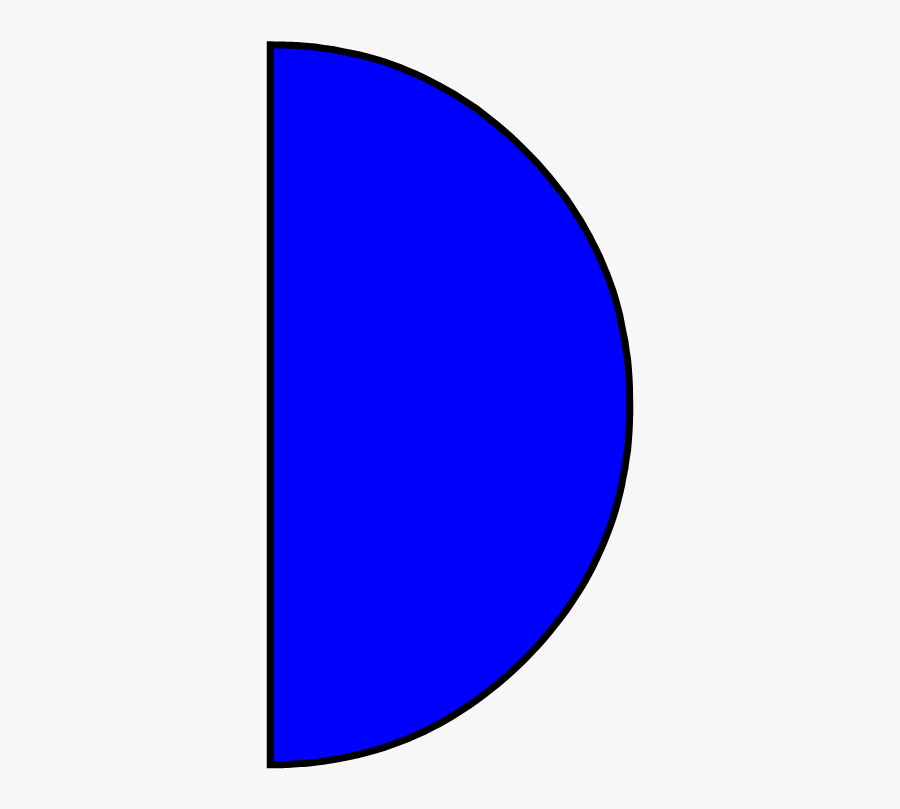 Semi Circle 2d Shape, Transparent Clipart