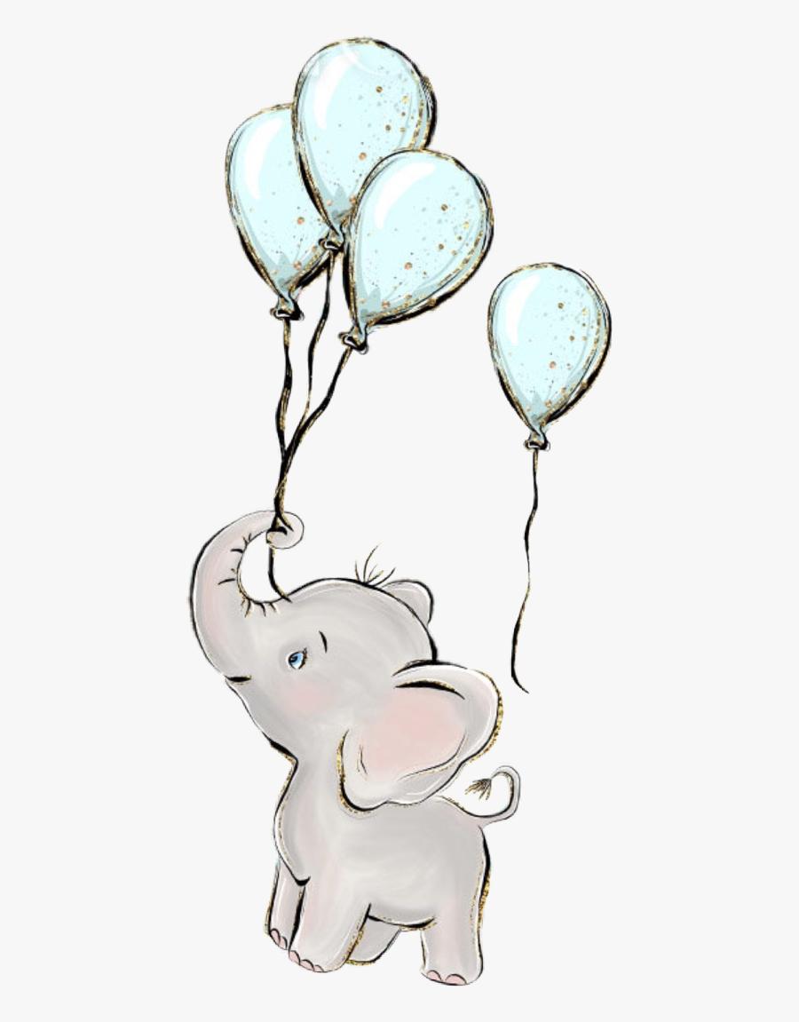 Baby Boy Elephant Clipart