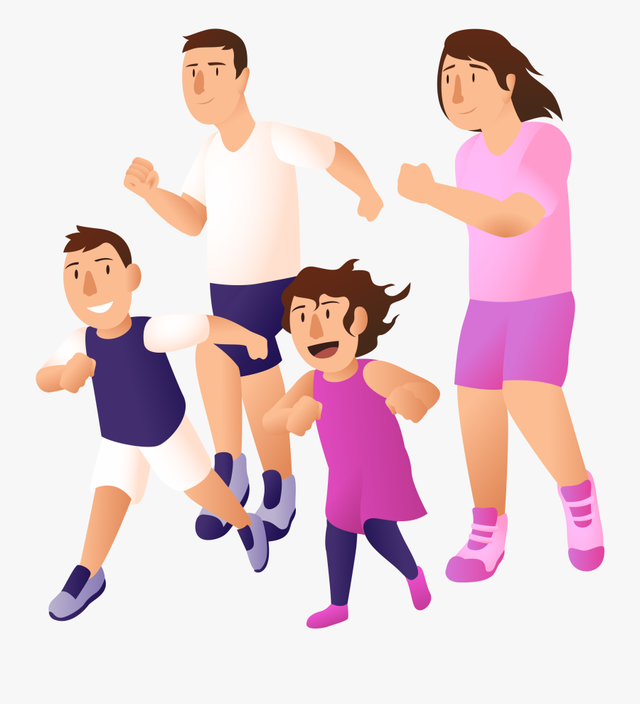 Exercise Nutritioneducationstore Com Jog Family Exercise Clipart Png Free Transparent Clipart Clipartkey