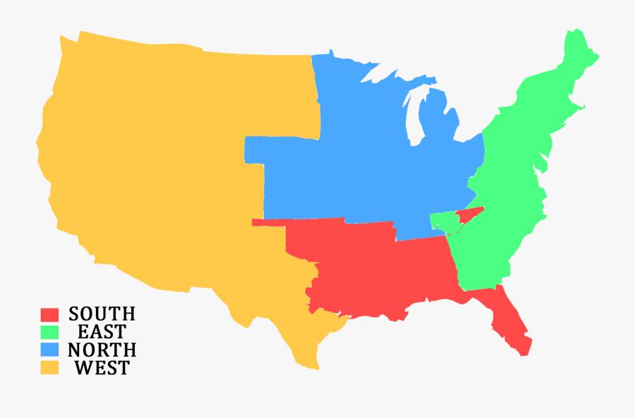 Transparent United States Map Clipart - United States Map Transparent Background, Transparent Clipart