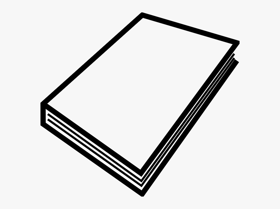 Black, Education, Outline, Open, White, Cartoon - Outline Drawing Of A Book, Transparent Clipart