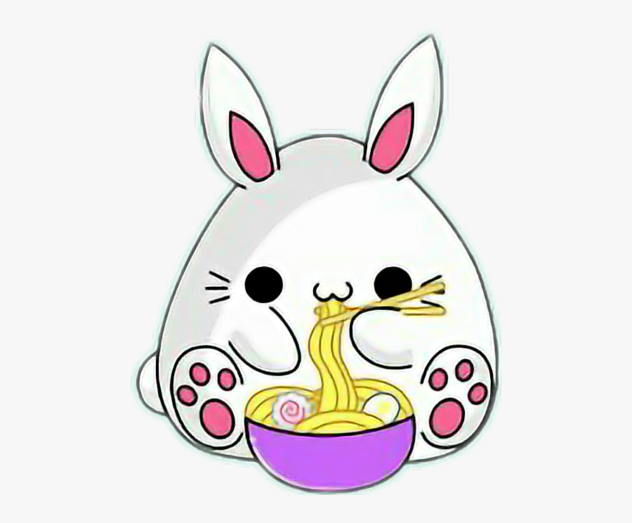 Cute Bunny Spaghetti Kawaii Animated Cute Bunny Gif Free Transparent Clipart Clipartkey