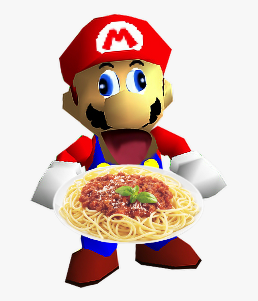 #smg4 #spaghetti #fatitalianmario - Super Mario 64 Mario Sprite, Transparent Clipart