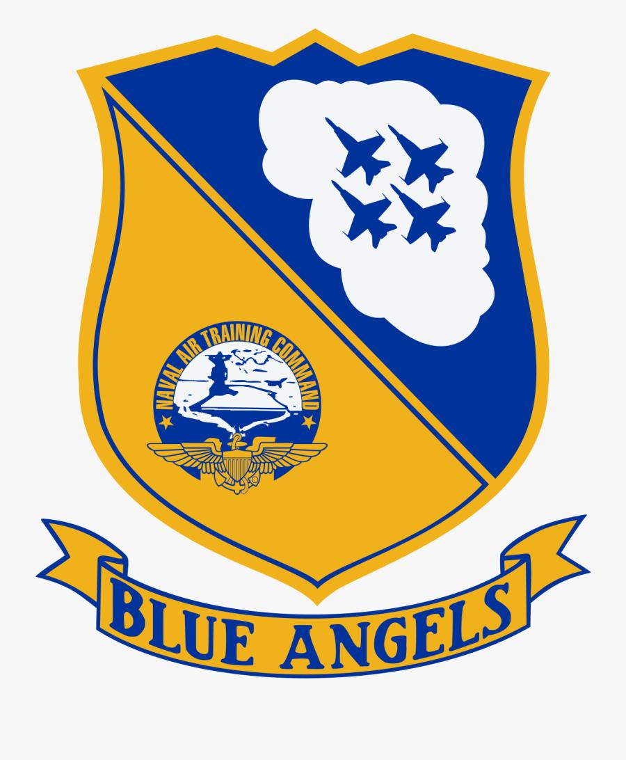 Blue Angels Logo, Transparent Clipart