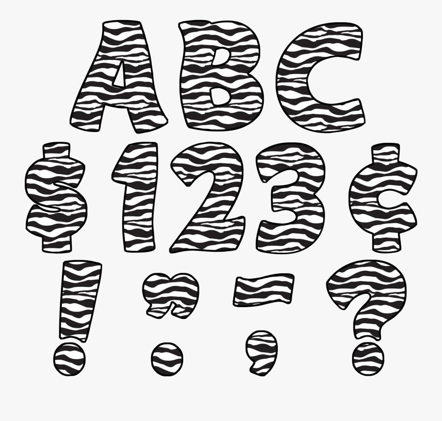 Zebra Print Funtastic - Animal Print Fonts Free Download, Transparent Clipart