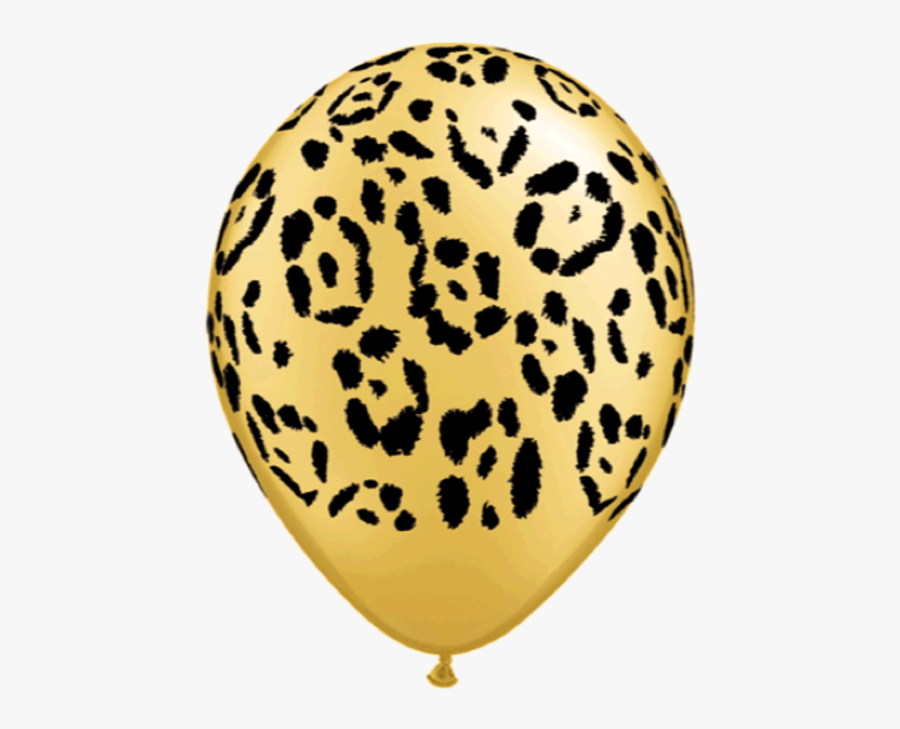 Leopard Spots 11r Gold - Hot Pink Cheetah Balloons, Transparent Clipart