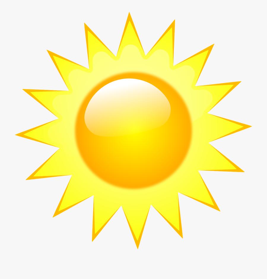 Transparent Sun Vector Png - Weather Forecast Symbols Sunny, Transparent Clipart