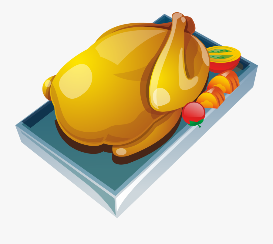 Roast Chicken Barbecue Recipe Food Cooking - Cooked Chicken Vector Png, Transparent Clipart