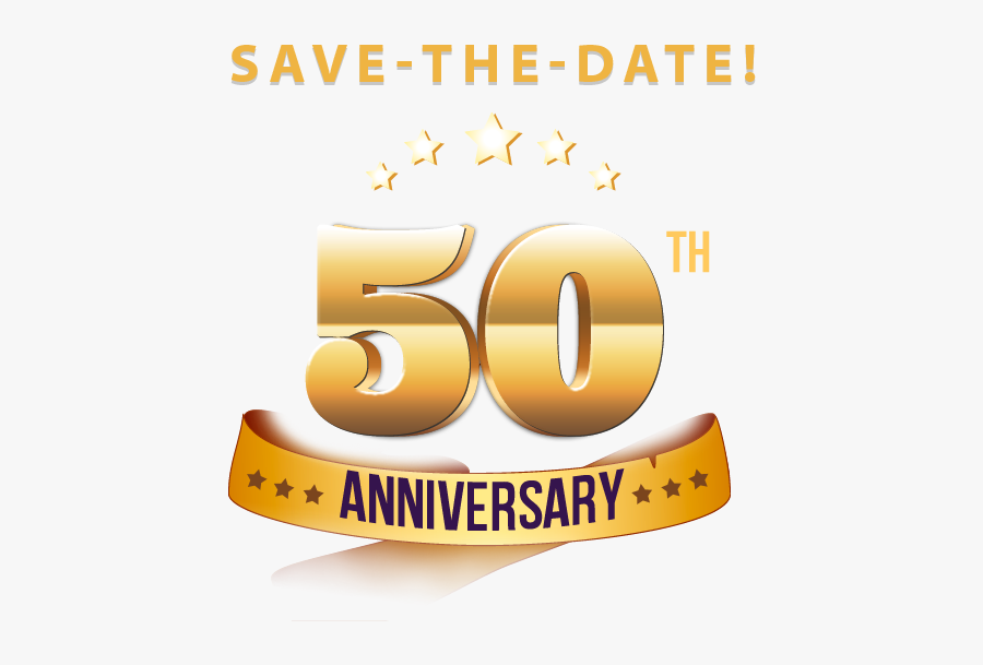 50 Year Anniversary Png - 50 Years Wedding Anniversary Logo Png, Transparent Clipart