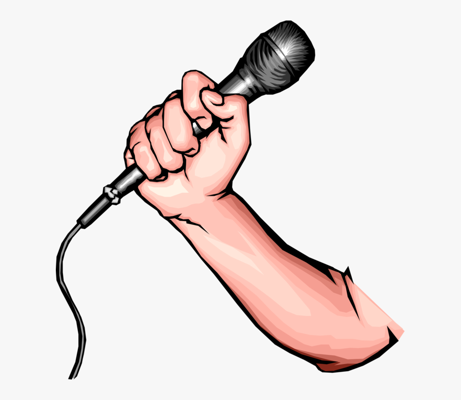 Transparent Hand Holding Something Clipart - Microphone With Hand Clipart, Transparent Clipart