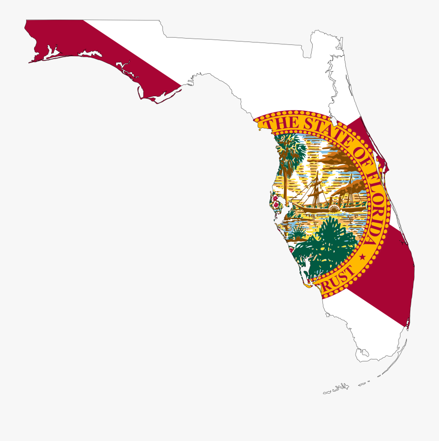 Clipart - State Of Florida Flag, Transparent Clipart