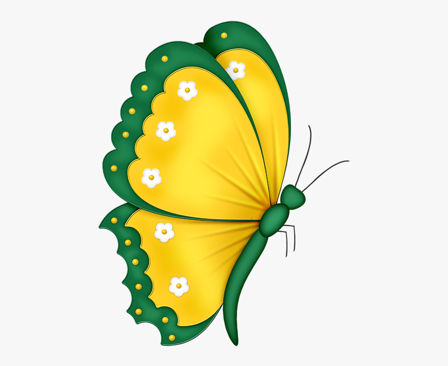 Transparent Flying Paper Png - Cartoon Butterfly Drawing Side View, Transparent Clipart