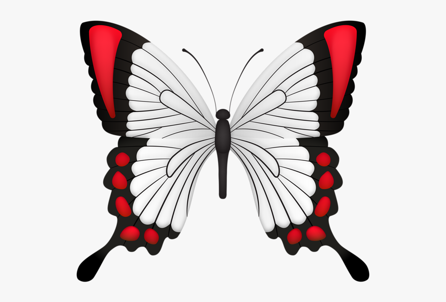 Red Butterfly Deco Clipart Image - Butterfly, Transparent Clipart