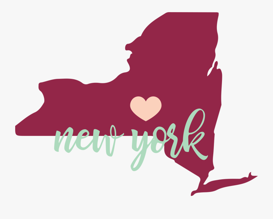 New York State Svg Cut File - New York State With Transparent Background, Transparent Clipart