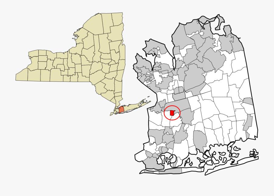 Jericho New York Map, Transparent Clipart