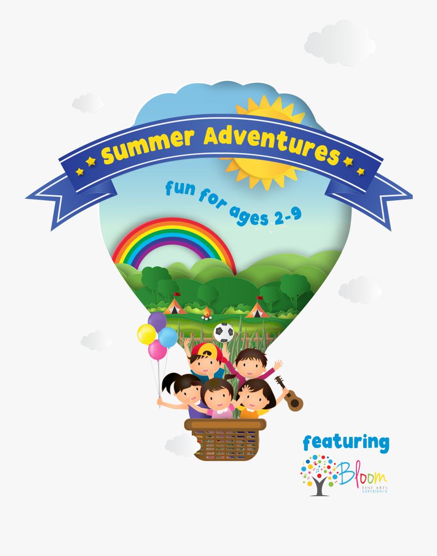 Summer Camp Kids Balloons, Transparent Clipart
