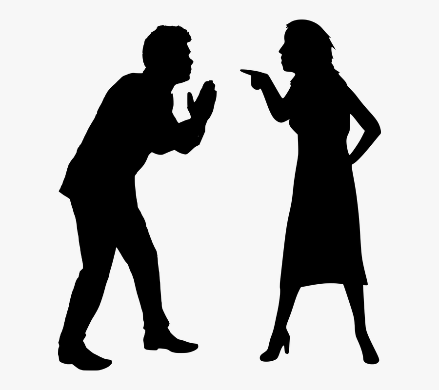 Silhouette Sorry Forgive - Silhouette Of Two People Fighting , Free  Transparent Clipart - ClipartKey