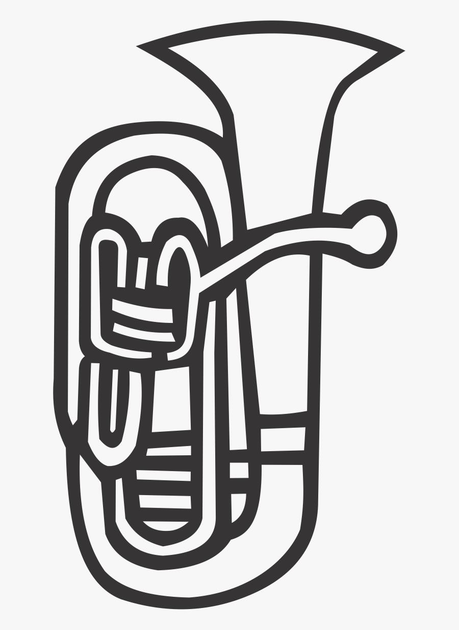 Euphonium - Euphonium Black And White, Transparent Clipart