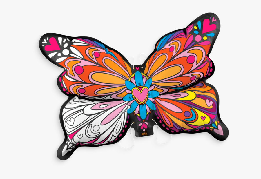 Clip Art Collection Of Free Drawing - Butterfly Color, Transparent Clipart
