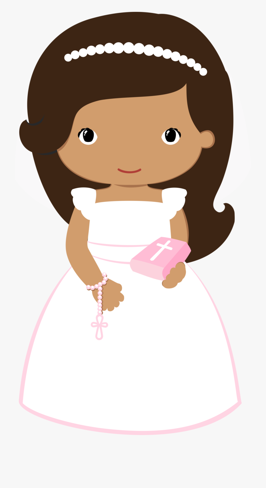Transparent Someone Singing Clipart - First Communion Girl Clip Art, Transparent Clipart