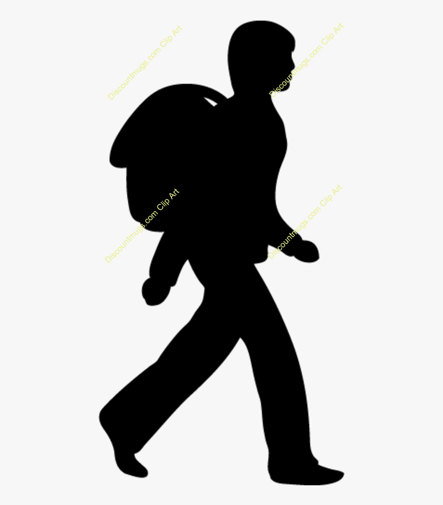 Silhouette Singing Clip Art - Student Going To School, Transparent Clipart