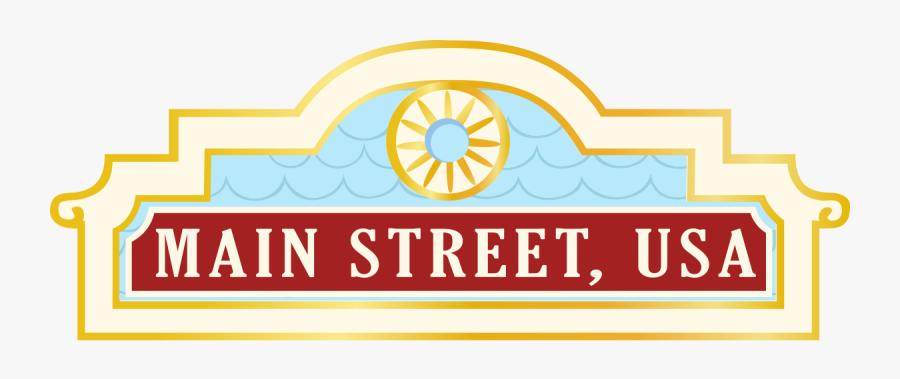 Disneyland Clipart Log - Disney World Main Street Usa Logo, Transparent Clipart