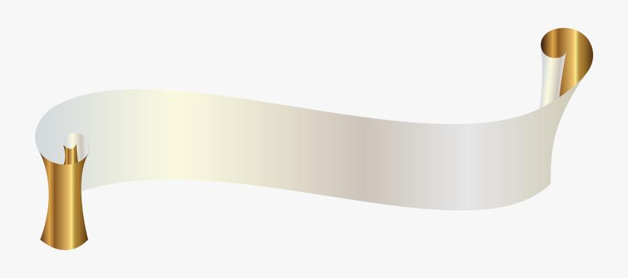 Banner Clipart White - Gold Black Ribbon Banner, Transparent Clipart