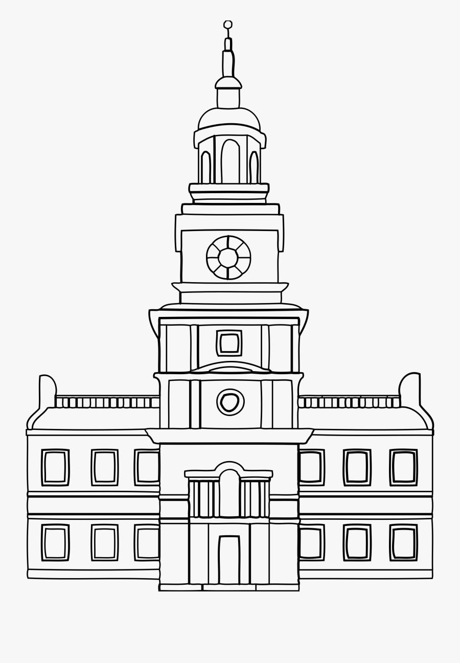 Transparent Rosewood Hall Png - Philadelphia Independence Hall Drawing, Transparent Clipart
