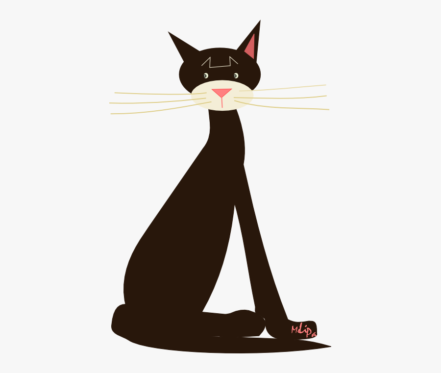 Free Scrap Png Illustration - Domestic Short-haired Cat, Transparent Clipart