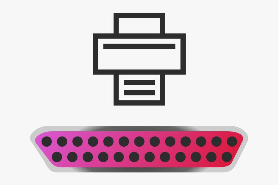 Parallel Port Icon, Transparent Clipart